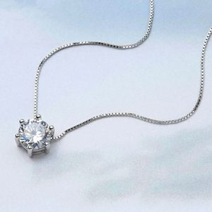 NEW 925 STERLING SILVER PLATED DIAMOND NECKLACE